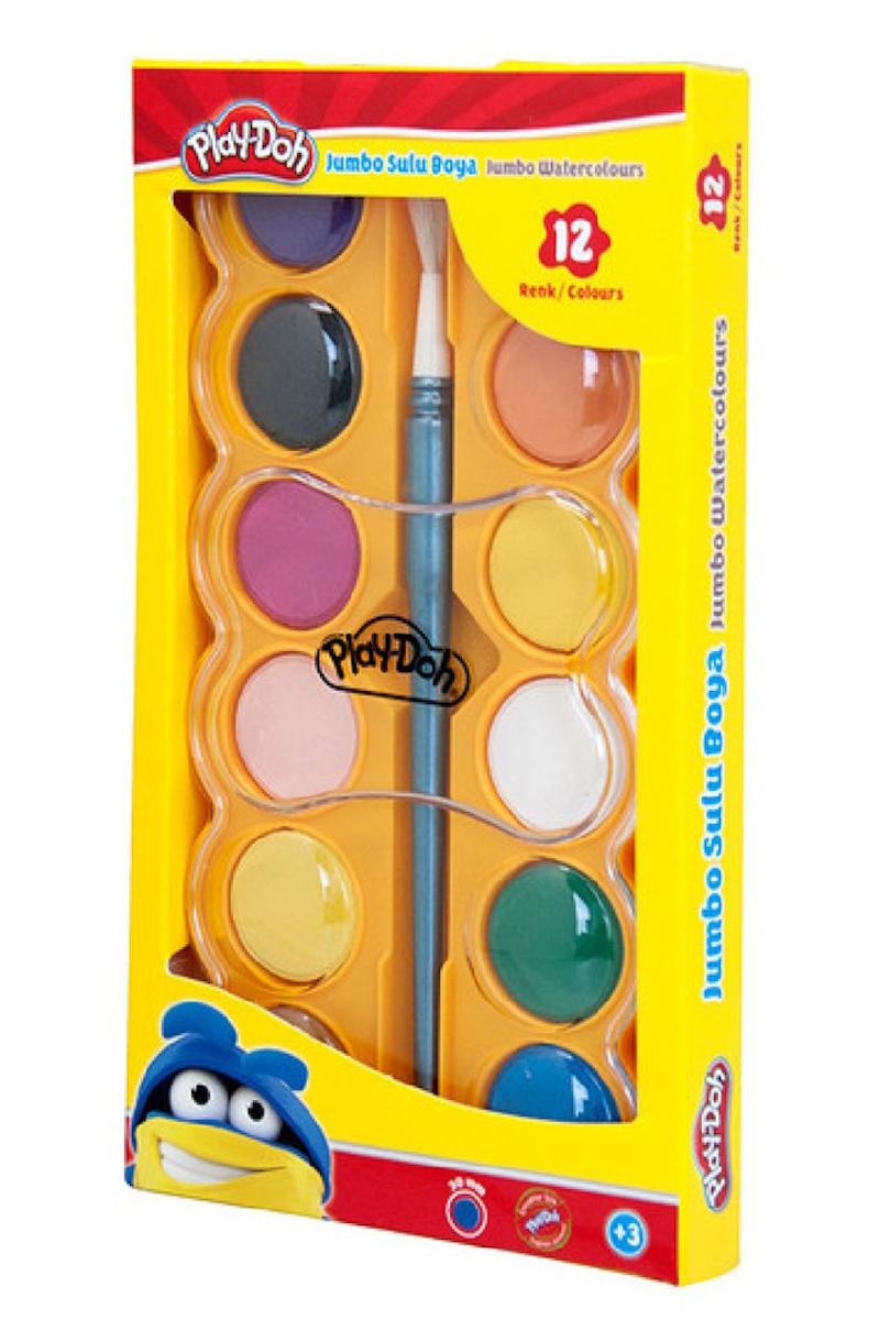 Play-Doh Jumbo Suluboya 12 Renk