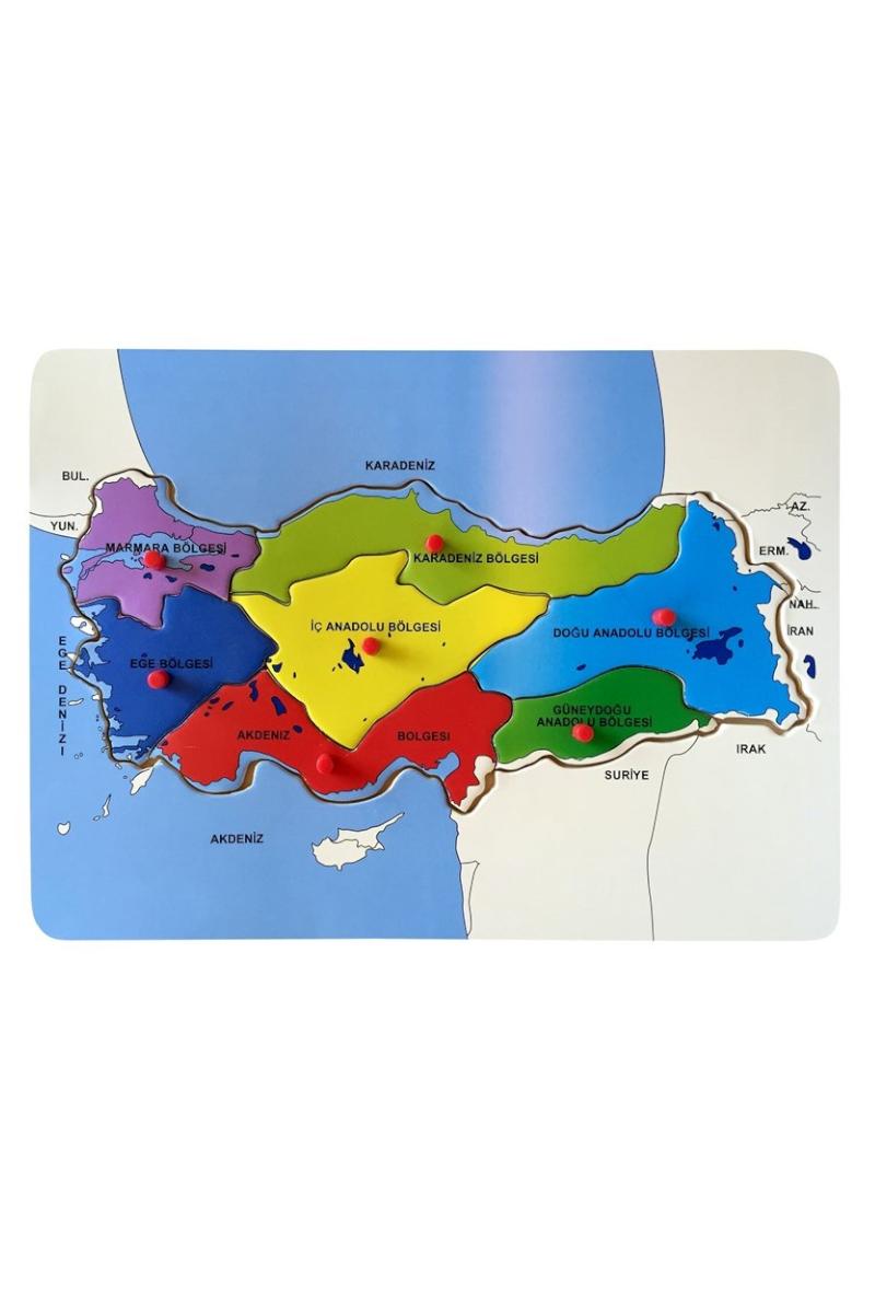 Bu-Bu Ahşap Puzzle Türkiye Haritası Bölgeler