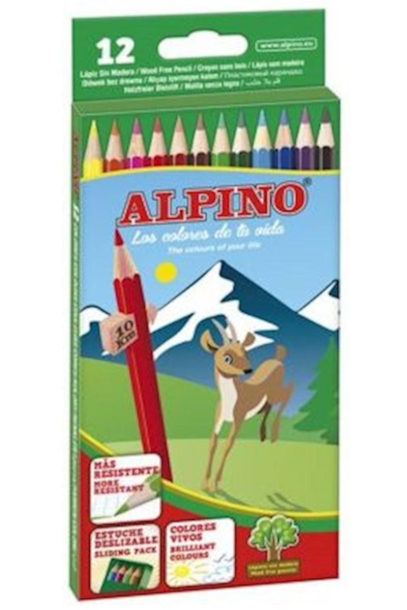 Alpino Classic 12 Renk Uzun Kuru Boya