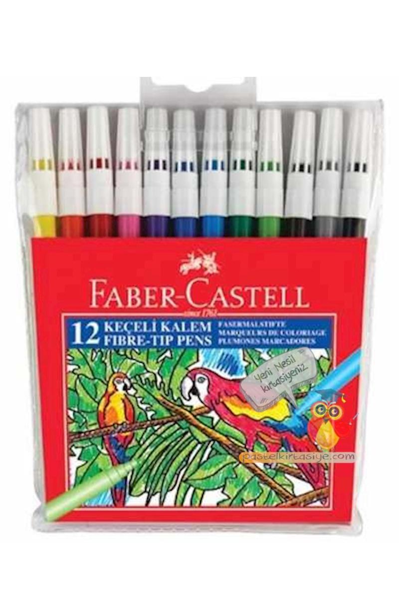 Faber Castell Yıkanabilir Keçeli Kalem 12'li