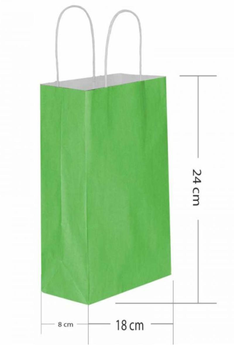 Büküm Saplı Kağıt Poşet 18x24