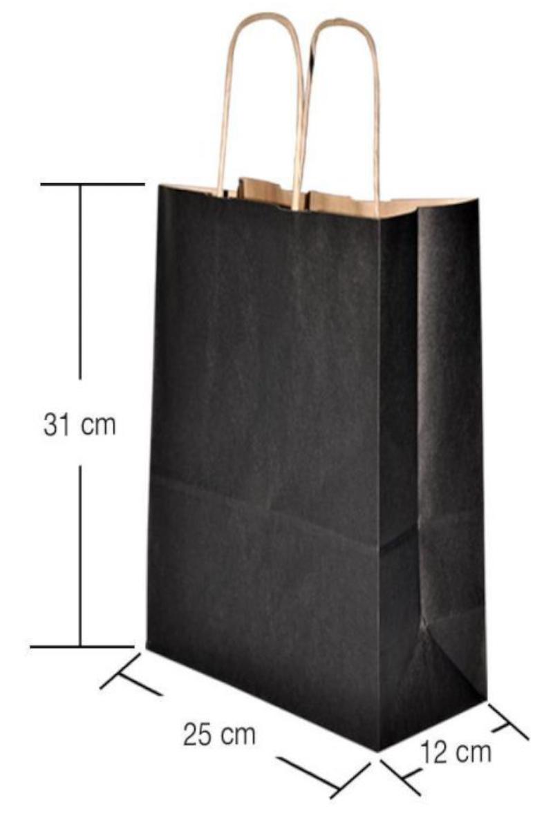 Büküm Saplı Kağıt Poşet 25x31