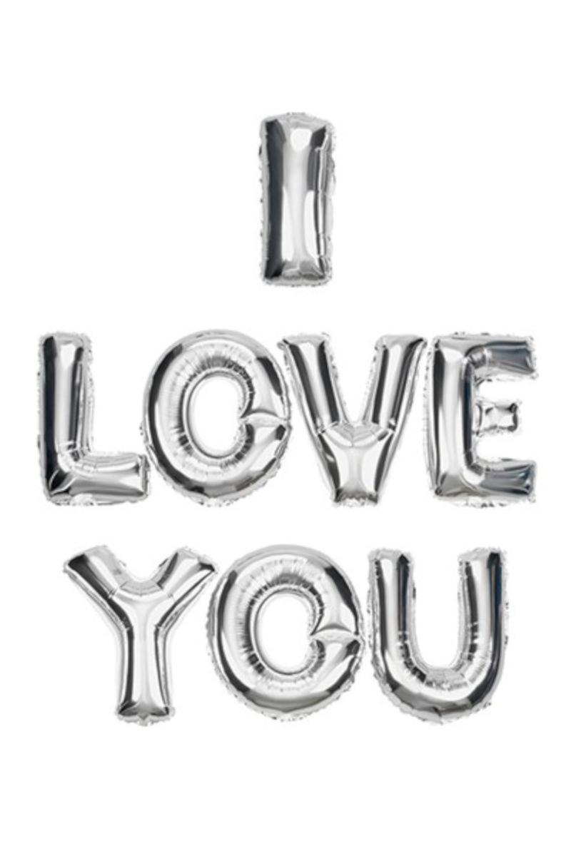 Folyo Balon I Love You Yazı Seti