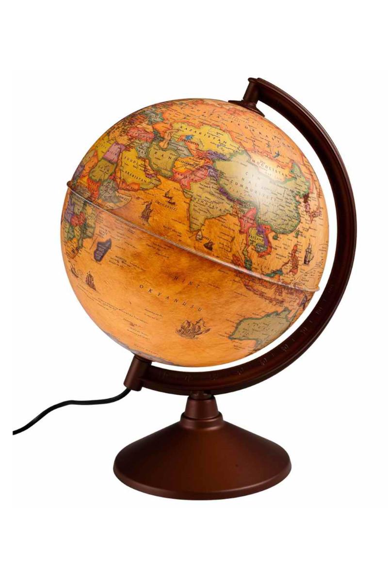 Gürbüz Işıklı Antik Küre 20 Cm