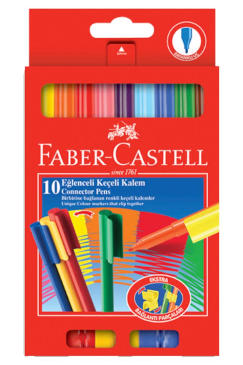 Faber Castell Eğlenceli Keçeli Kalem 10'lu