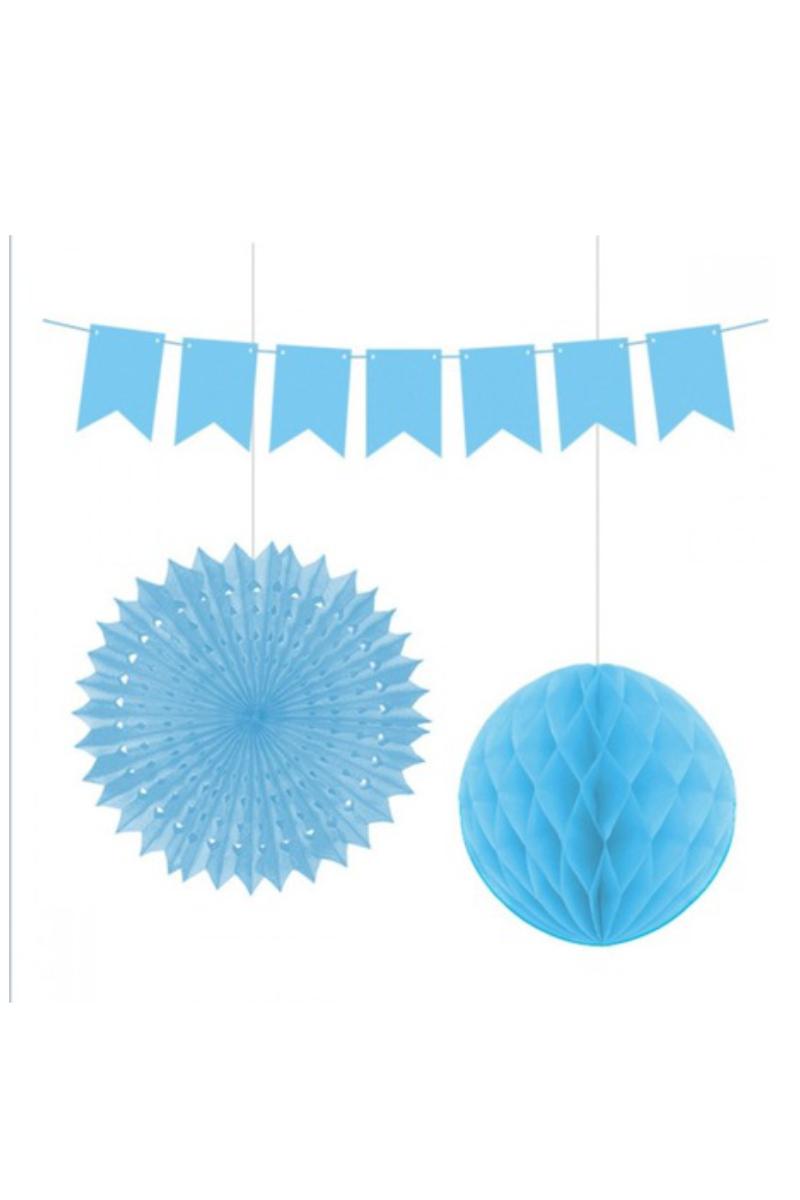 Kağıt Set Süs 3'lü Mavi