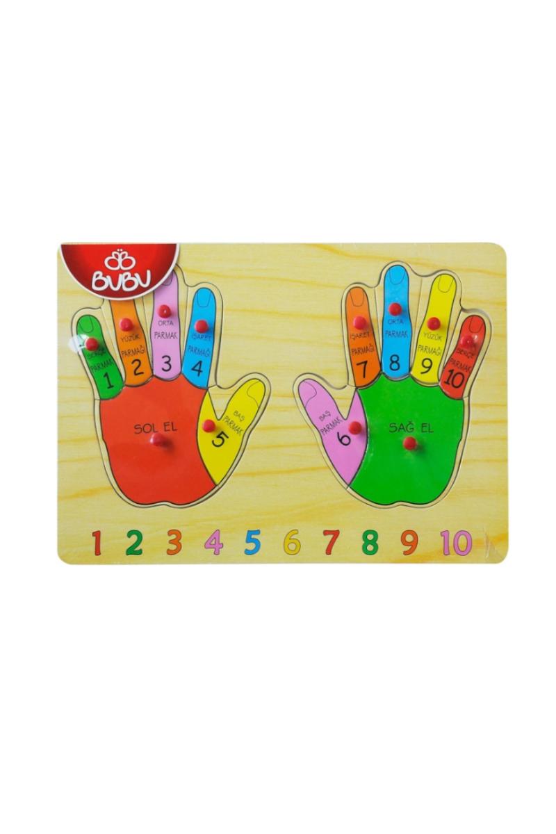 Bu-Bu Ahşap Puzzle Parmaklar