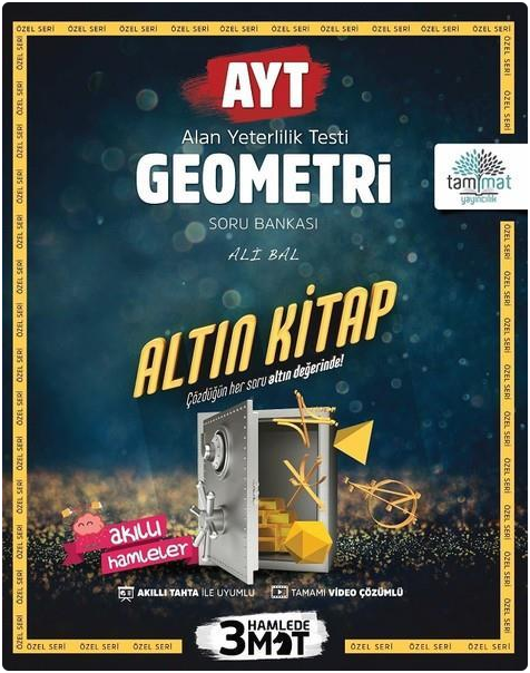 Tammat Yayınları AYT Geometri Altın Kitap Tamamı Video Çözümlü Soru Bankası