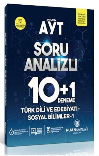 Puan Akademi AYT Türk Dili ve Edebiyatı Sosyal Bilimler 1 Soru Analizli 10 Artı 1 Deneme