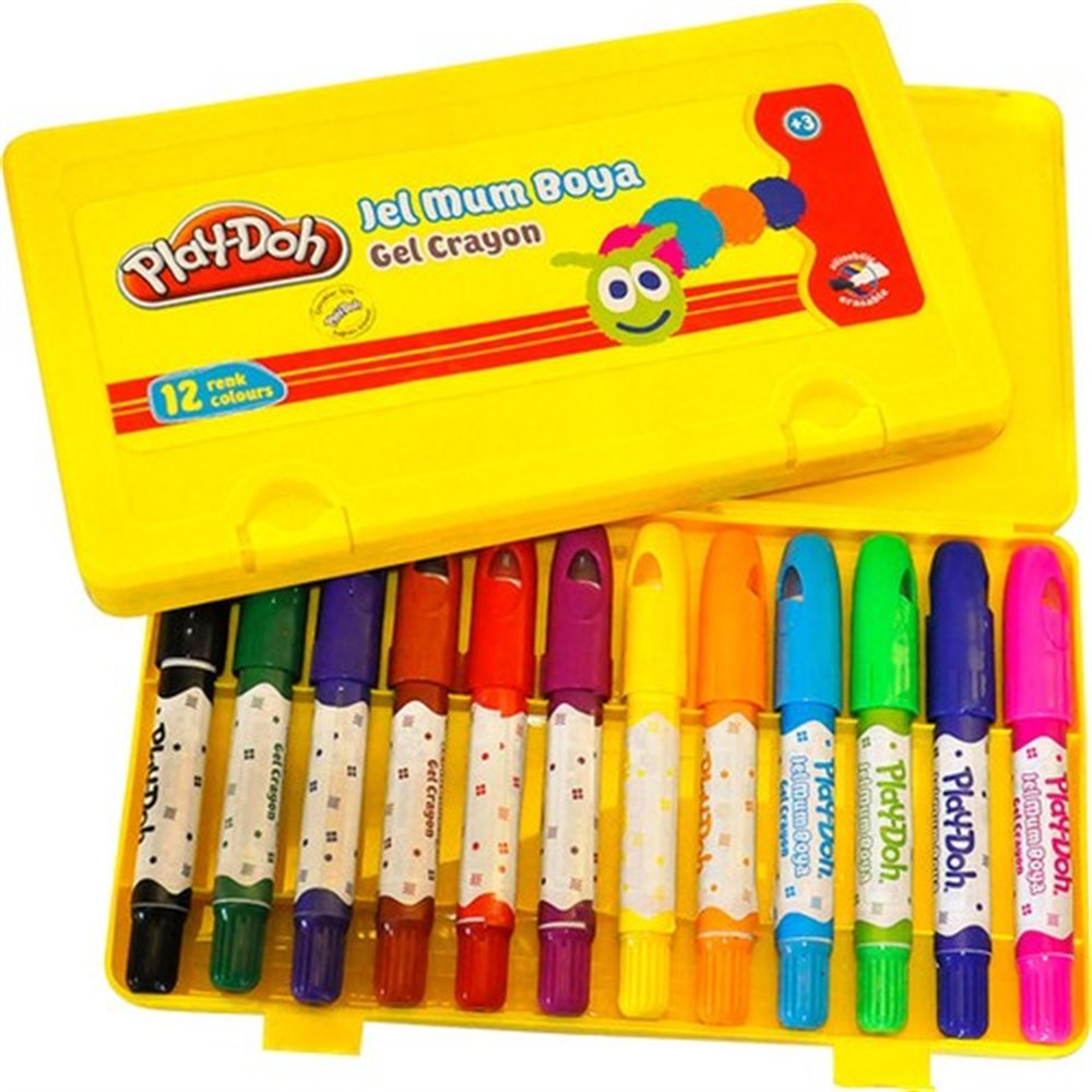 Play-Doh Jel Mum Boya Crayon 12 Renk  (PLAY-CR014)