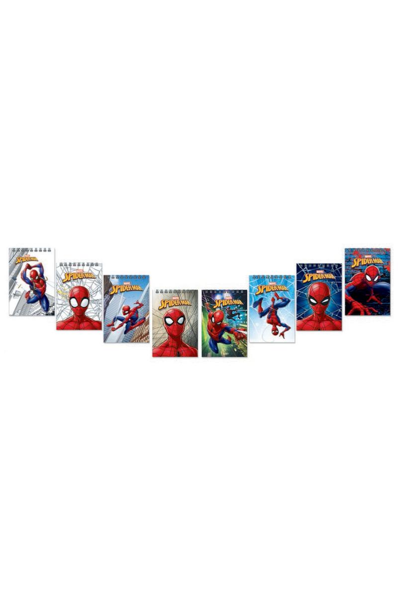 Keskin Color Spider-man A7 42 Yaprak Kareli Spiralli Not Defteri