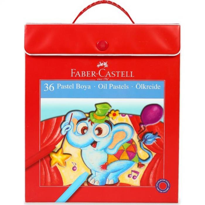 Faber Castell Plastik Çantalı Tutuculu Pastel Boya 36 Renk