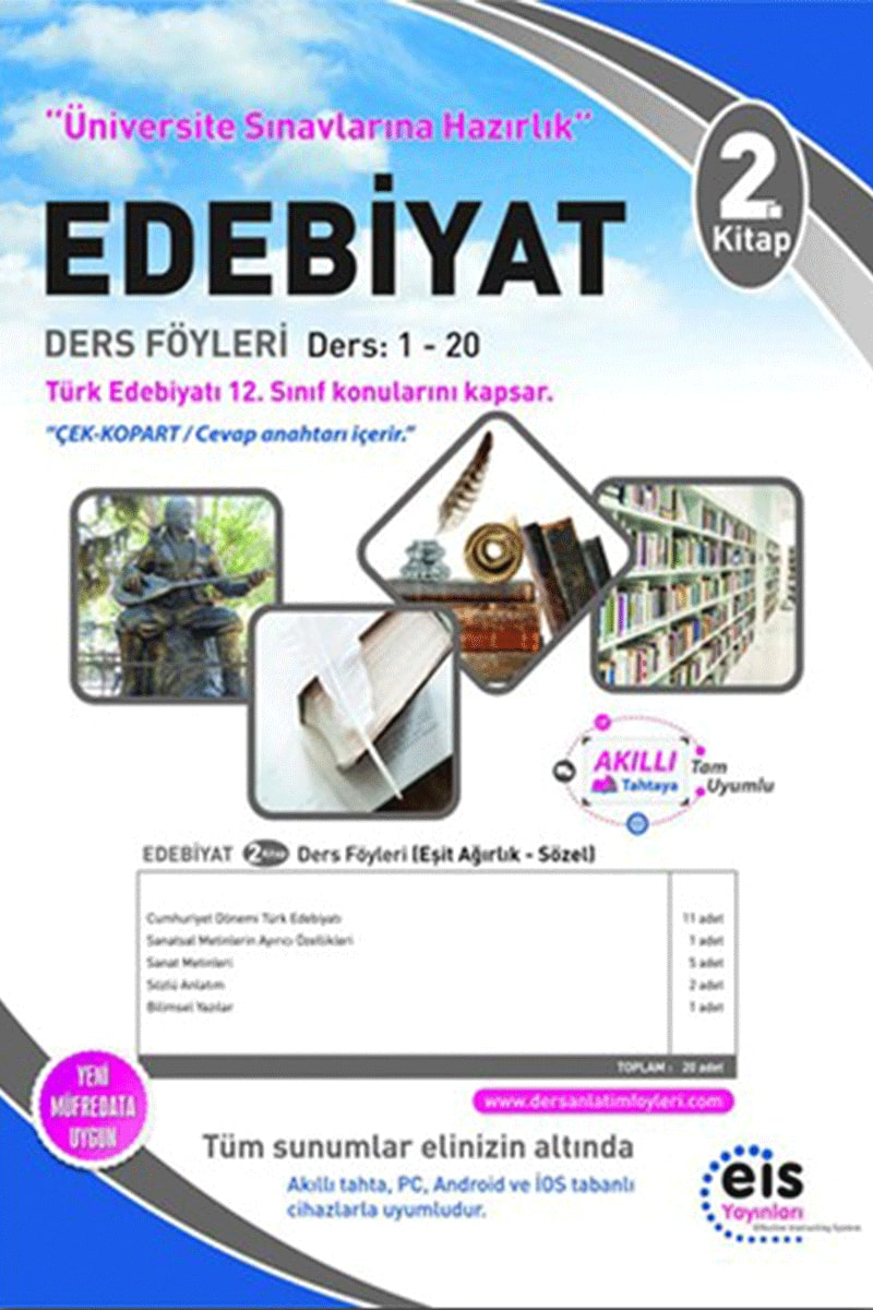 Eis Üniversite Sınavlarına Hazırlık Edebiyat DAF Ders Anlatım Föyleri 2. Kitap 1-20