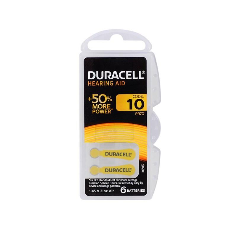 Duracell 10, PR70 Kulaklık İşitme Cihazı Pili 6'lı Paket