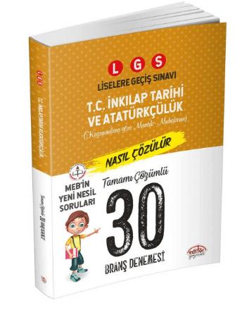 LGS İnkılap Tarihi ve Atatürkçülük 30 Deneme Sınavı
