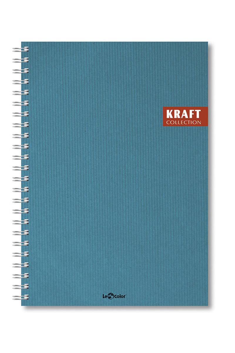 Le Color Kraft Spor Çizgili 17x24 120 Yp Defter