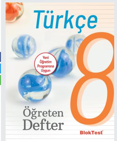 Bloktest 8. Sınıf Türkçe Öğreten Defter