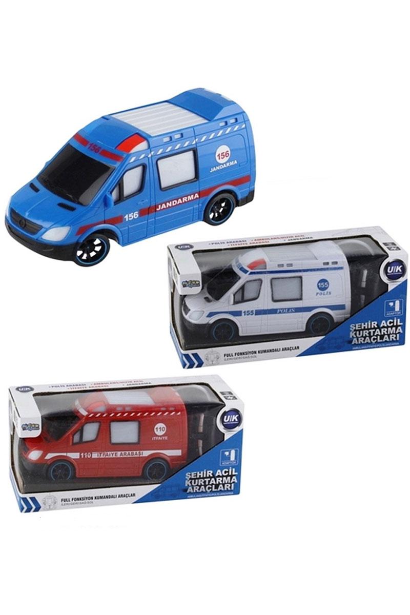 Uzaktan Kumandali Sarjli Meslek Araclari Polis Ambulans Itfaiye