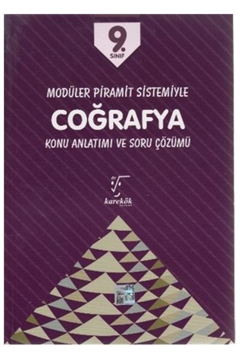 Karekök Yayınları 9. Sınıf Coğrafya Modüler Piramit Sistemiyle Konu Anlatımlı ve Soru Çözümü MPS