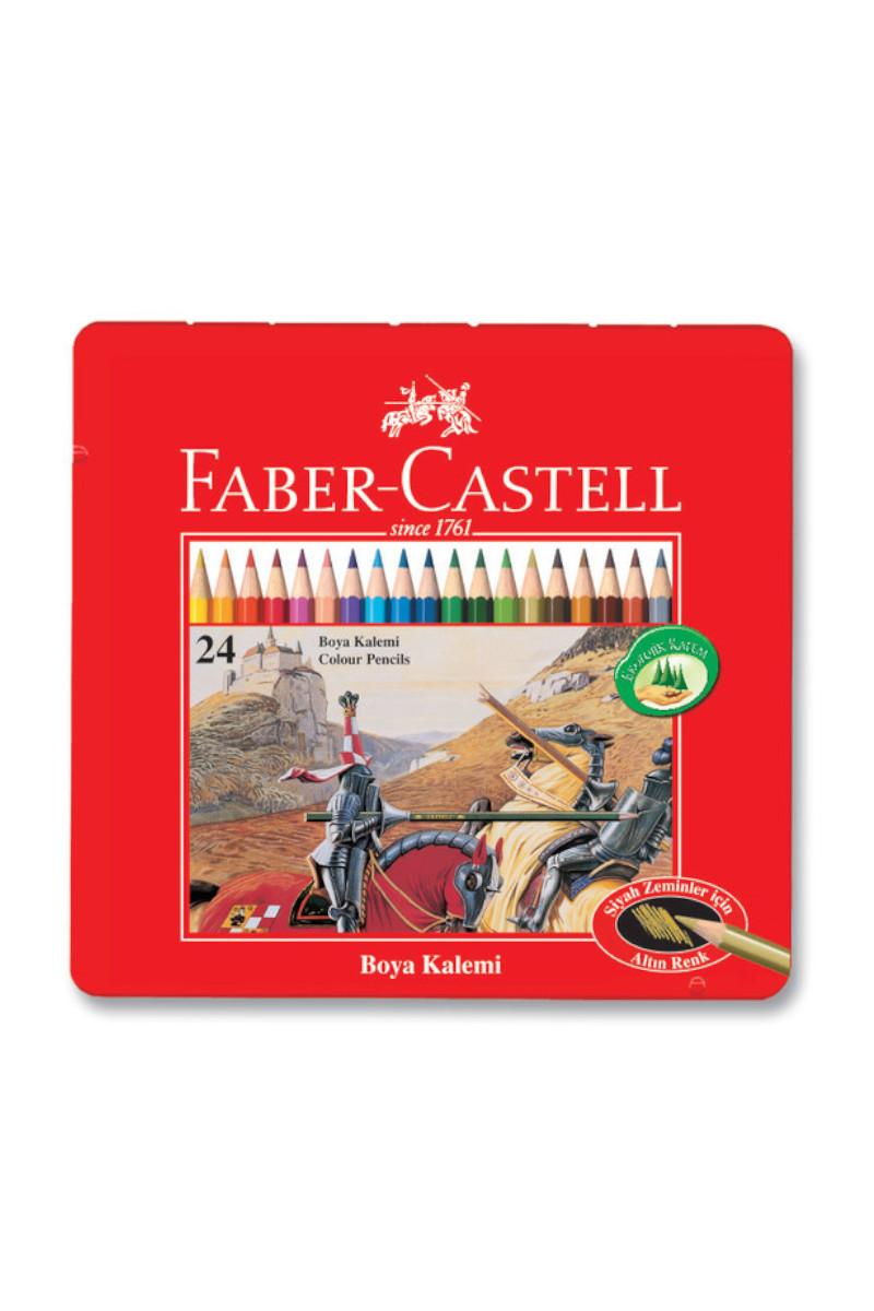 Faber Castell Boya Kalemi Redline 24 Renk Teneke Kutu