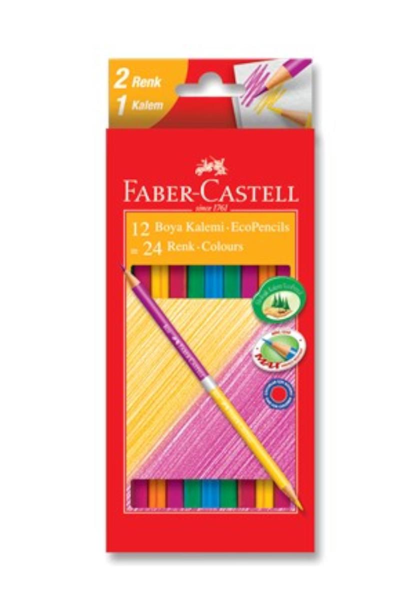 Faber Castell Boya Kalemi Bicolor 24 Renk Çift Renk