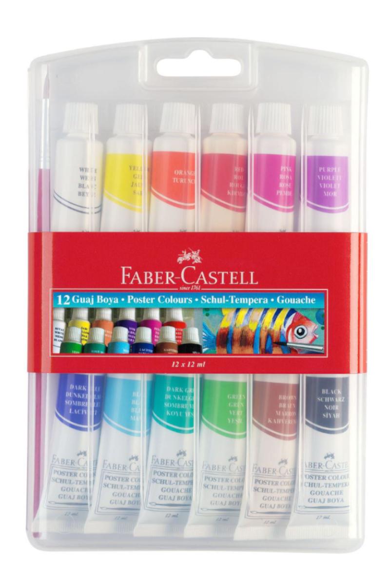 Faber Castell Guaj Boya 12 Renk Tüp