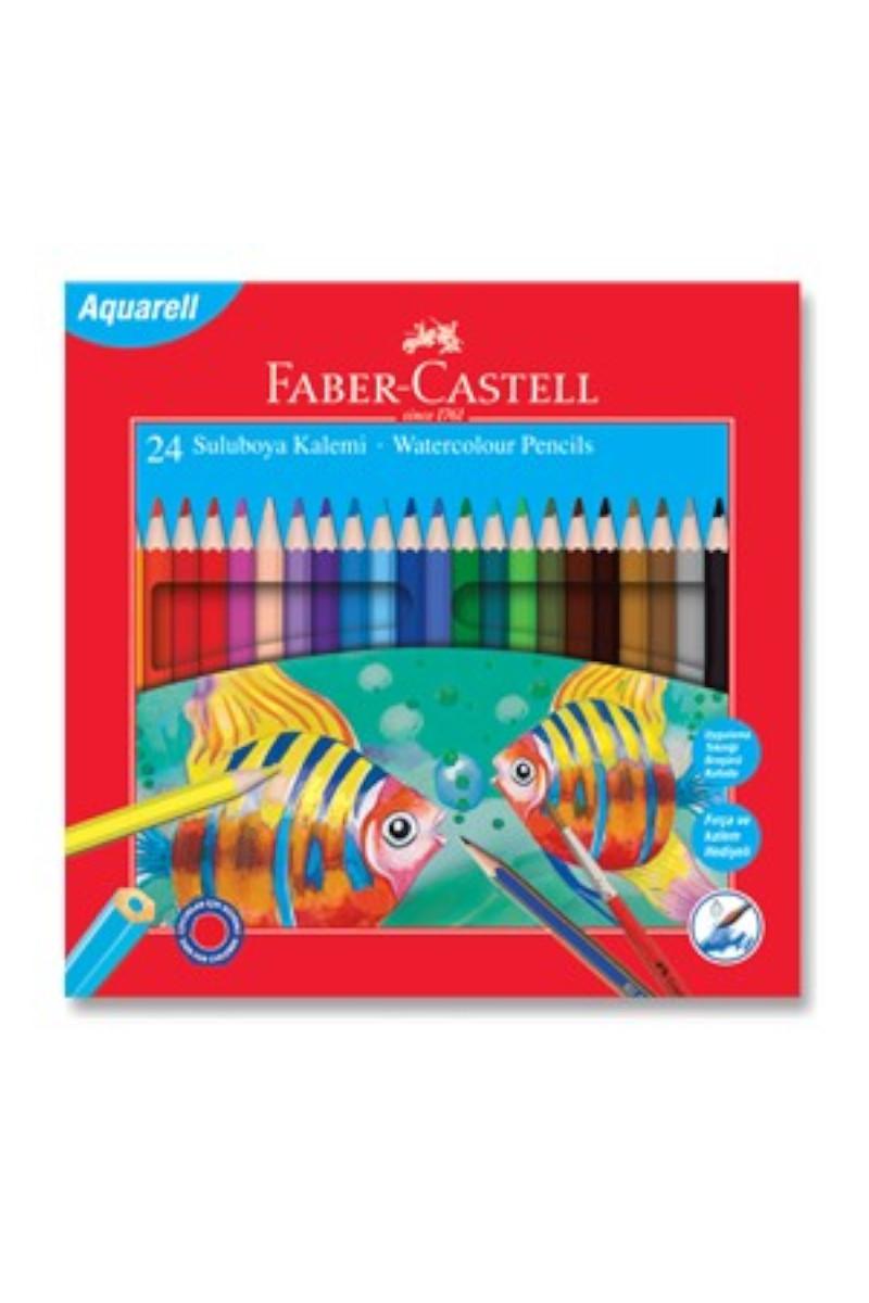 Faber Castell Kuru Boya Aquarel Karton 24 Renk