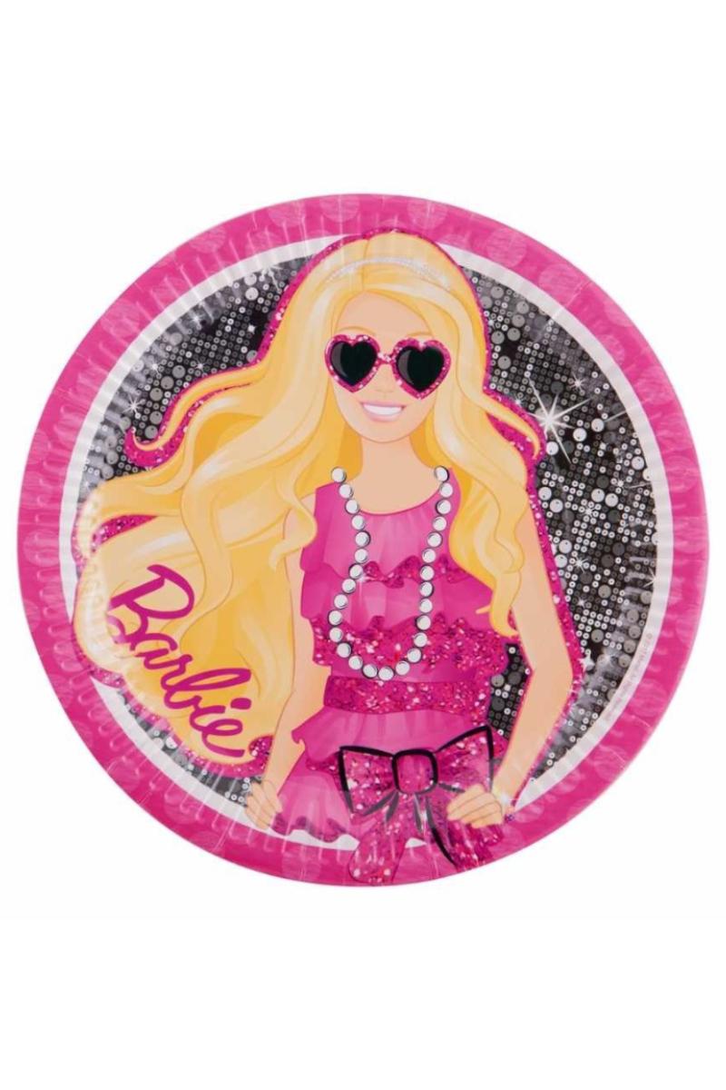 Balonevi Barbie Klasik Karton Tabak