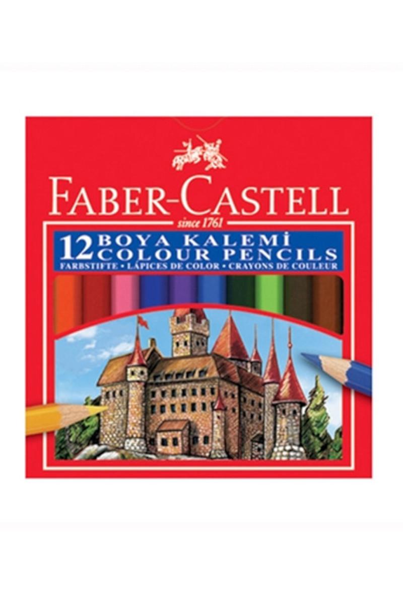 Faber Castell Boya Kalemi Redline 12 Renk Yarım Boy