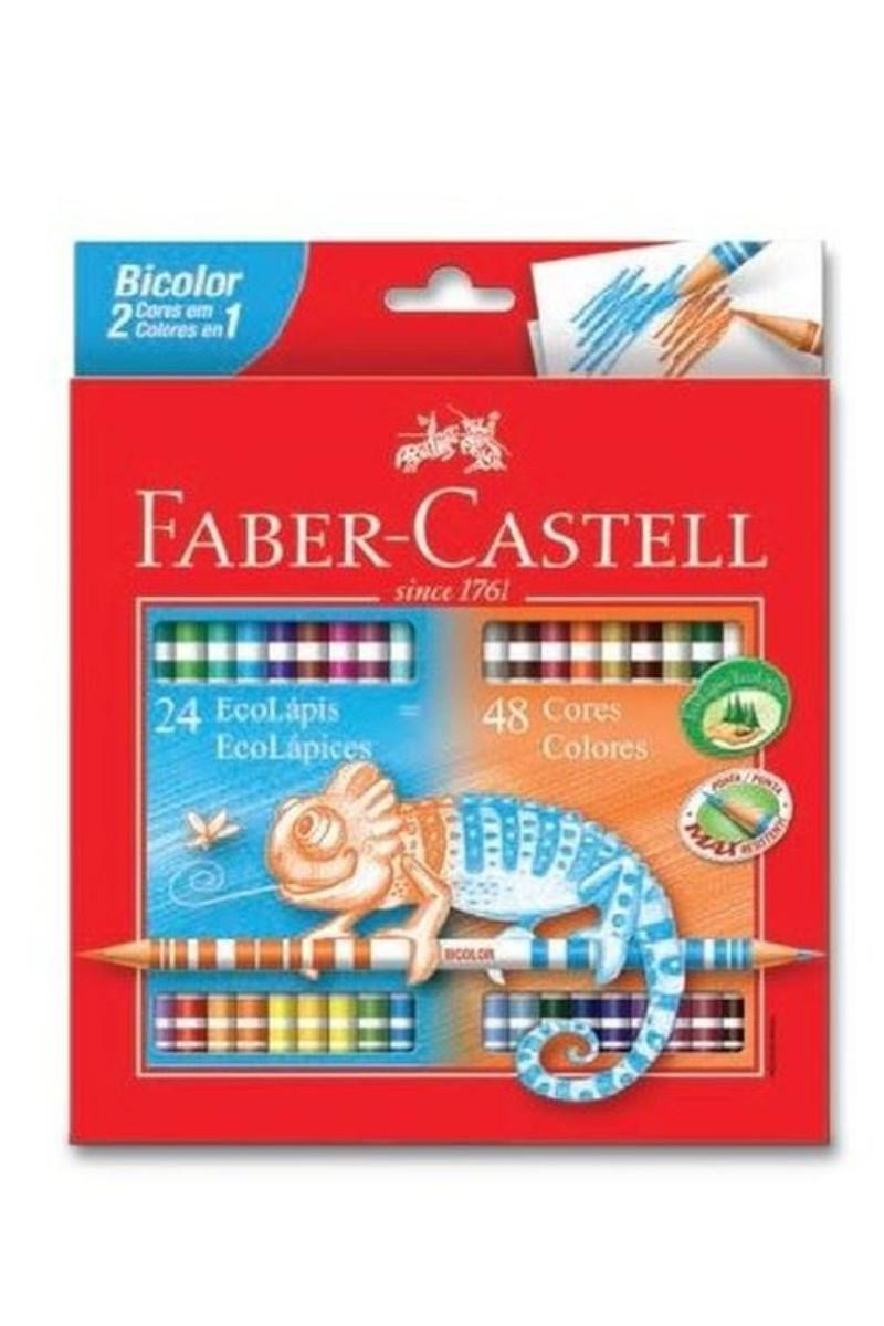 Faber Castell Kuru Boya Bicolor 48 Renk Çift Renk