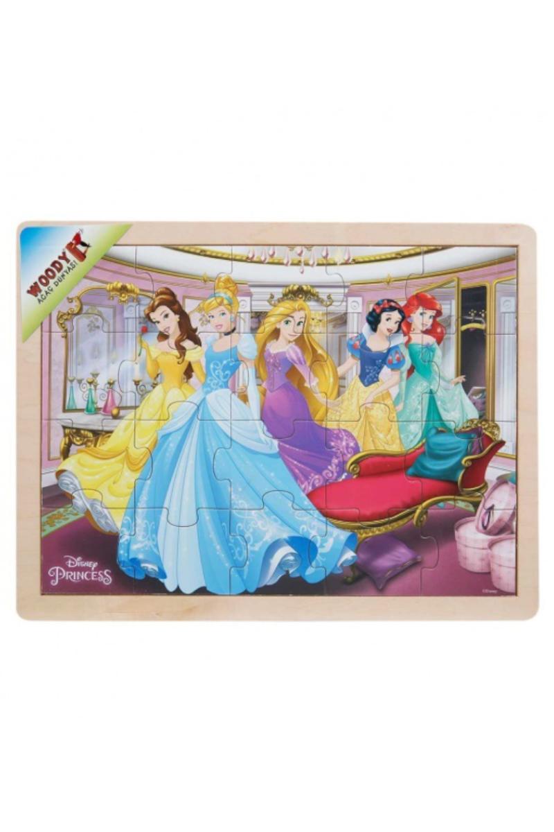 Ahşap Disney Prensesleri Puzzle 20 Pcs
