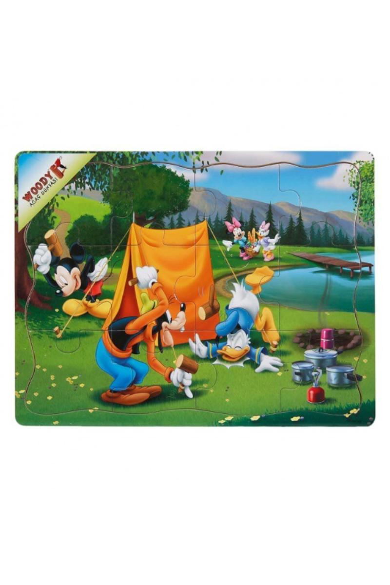 Ahşap Mickey Puzzle 12 Pcs
