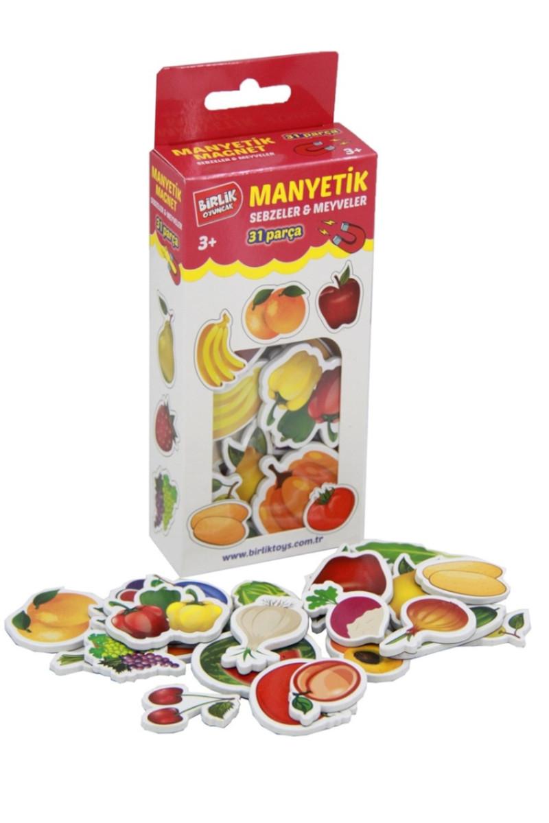 Manyetik Magnet 31 Parça Meyve Sebze