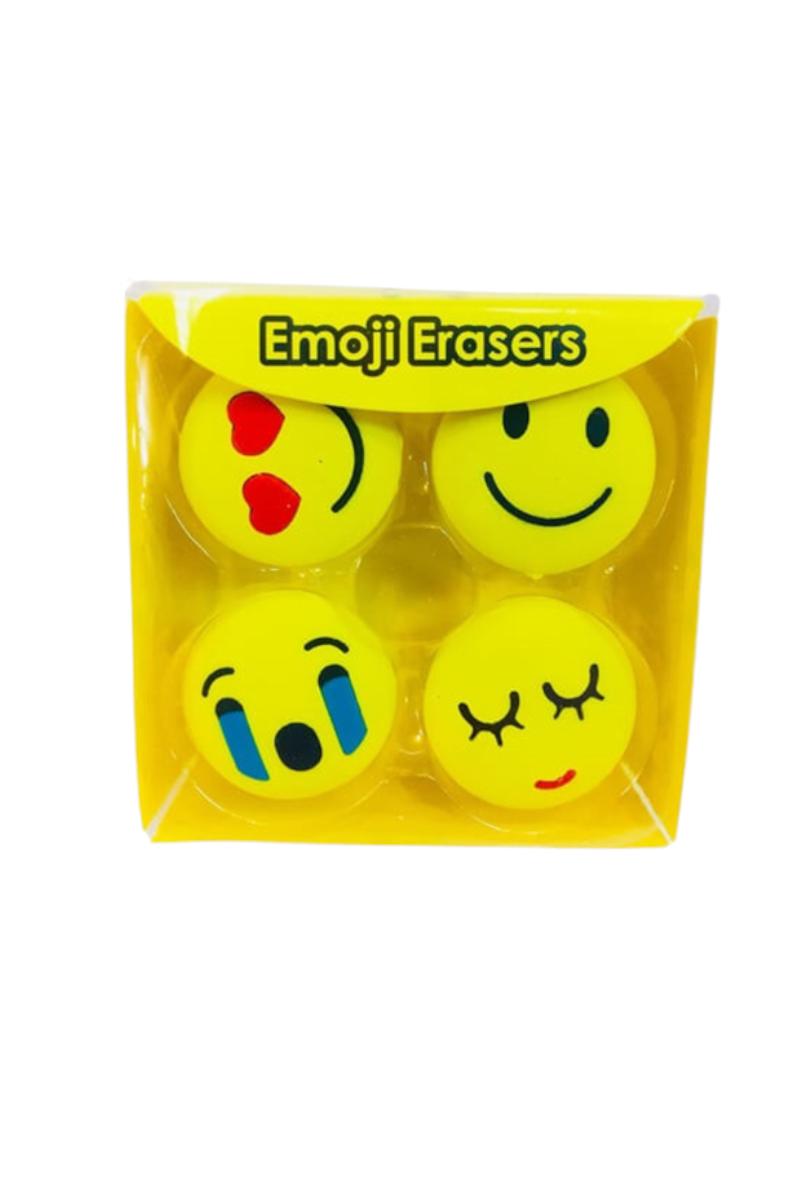 Taros Vintage Label Emoji Silgi 4'lü