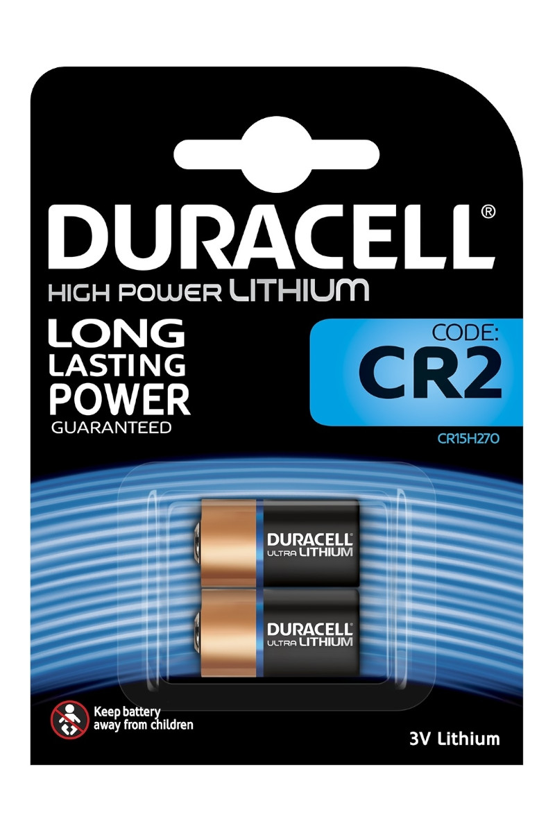 Duracell Lithium High Power CR2 3 Volt Kamera Pili 2'li