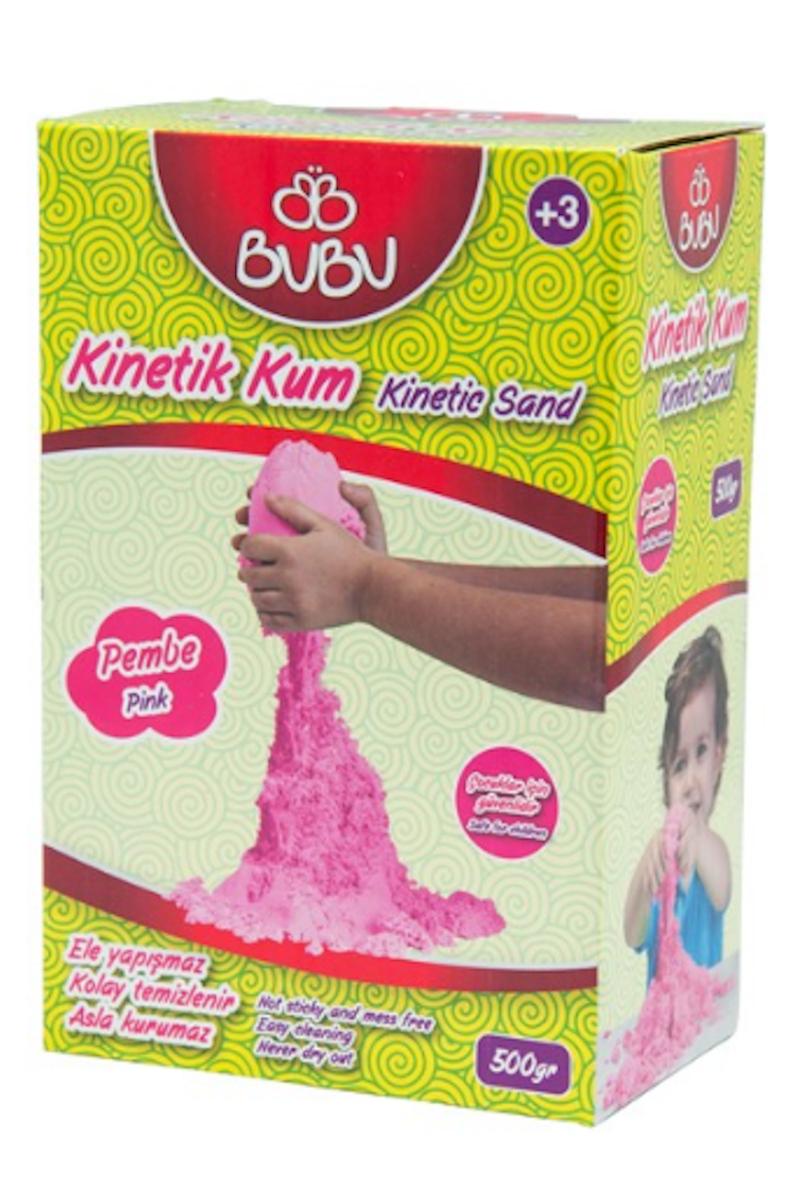 BU-BU Natural Kinetik Kum 500 gr. Pembe