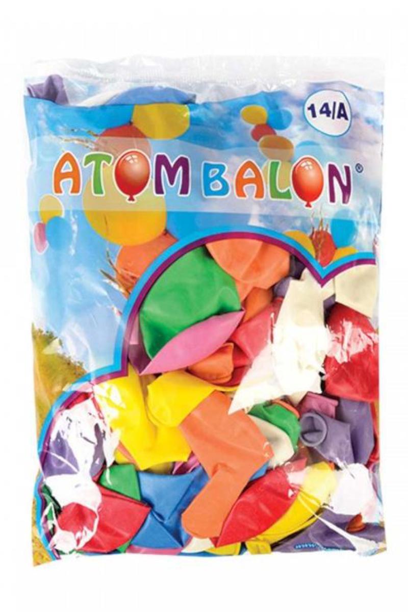 Atom Karışık Renkli Balon 14/A 100'lü