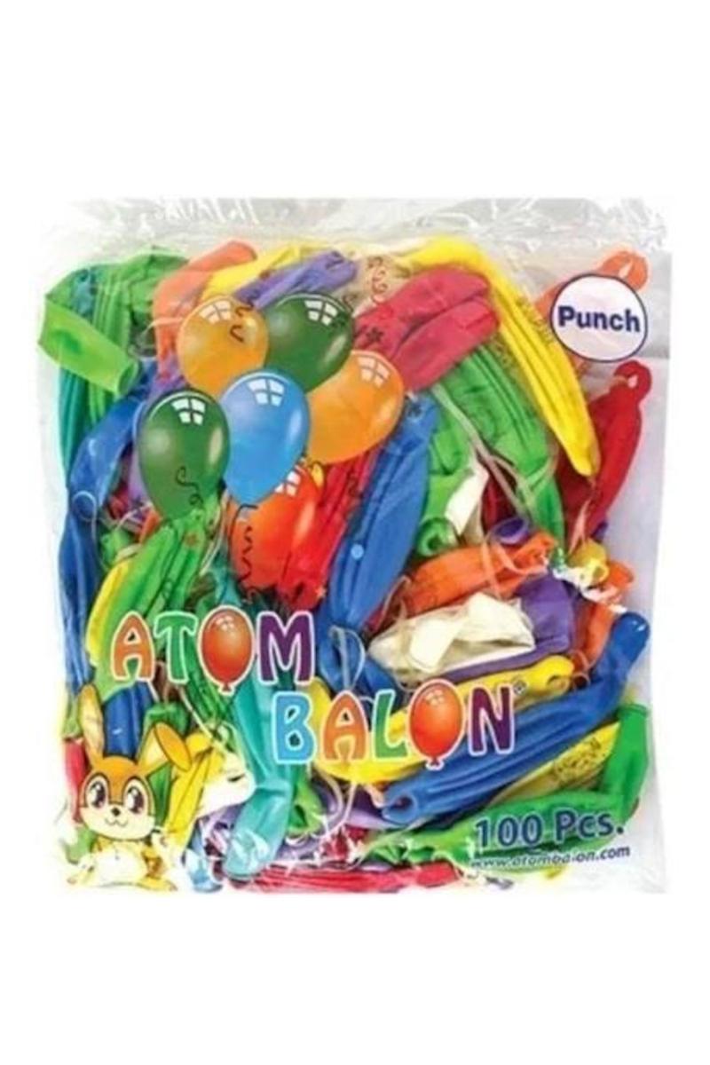 Atom Baskısız Punch Balon 100'lü
