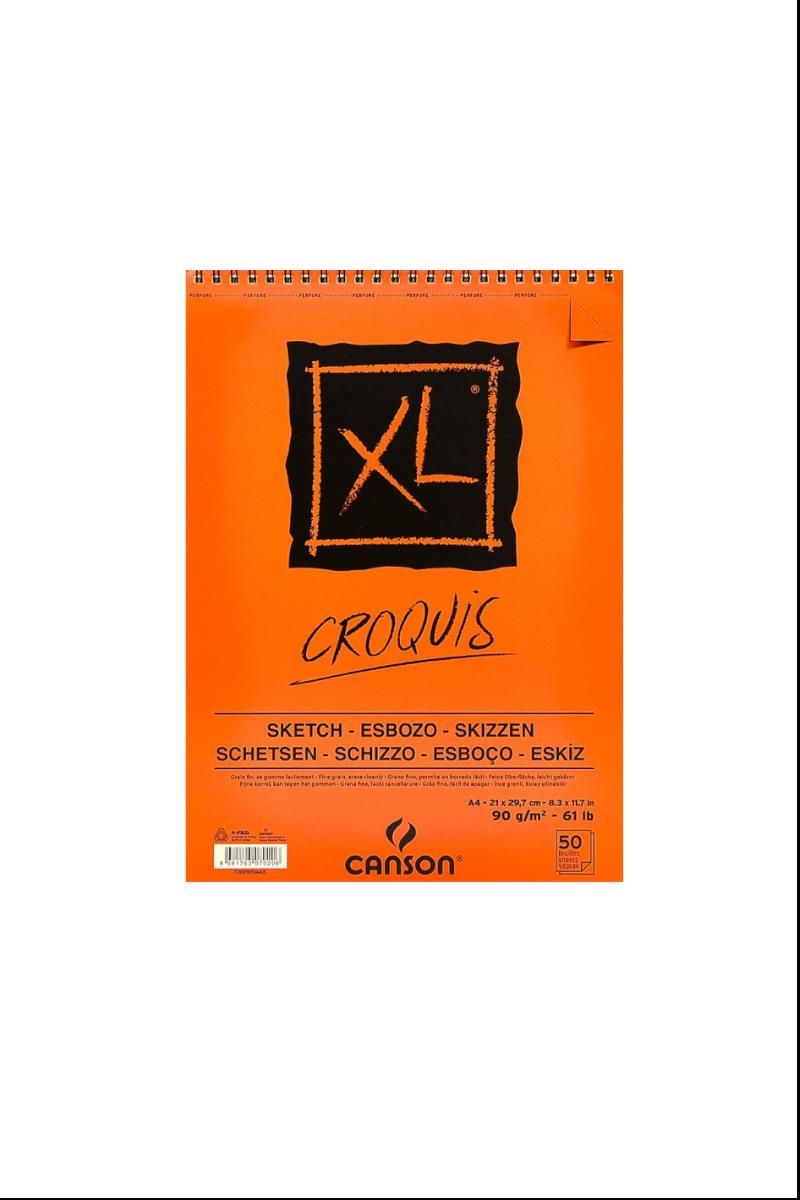 Canson Croquıs Xl Albüm A4 90gr 50yp Üst.Spr