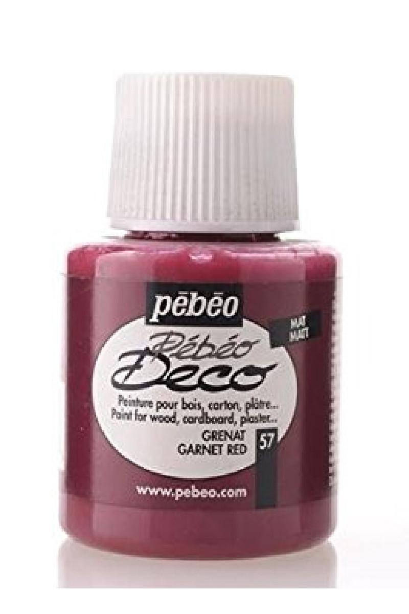 Pebeo Deco Ahsap Boya Mat 110ml Garnet Red 57