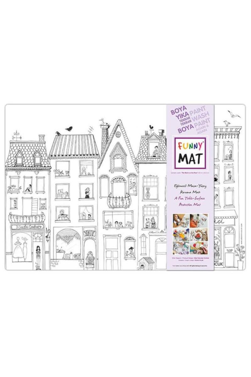 Funny Mat-Çatıdaki Leylek Küçük Boy