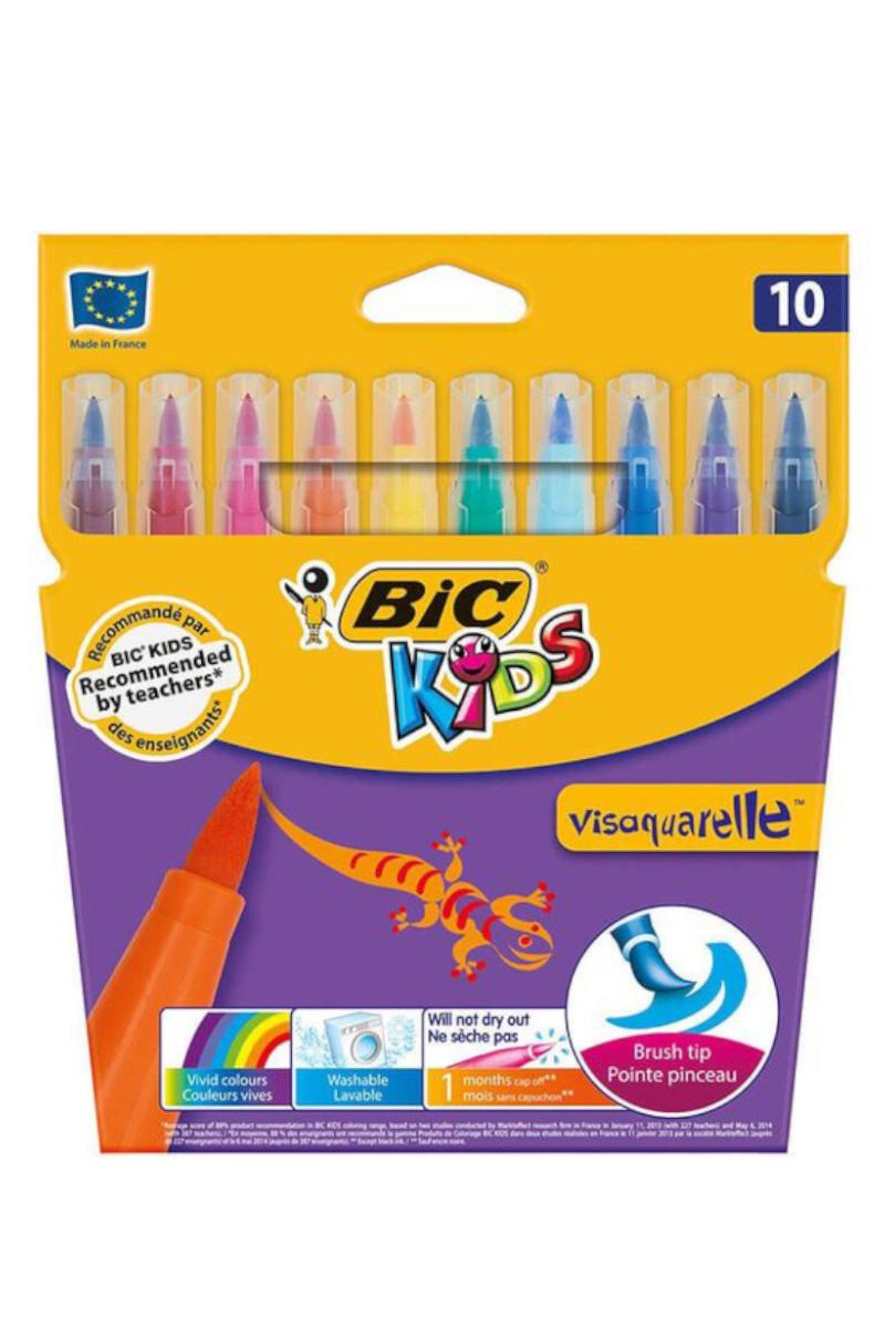Bic Vısa Keçeli Kalem Fırça Uçlu 10'lu