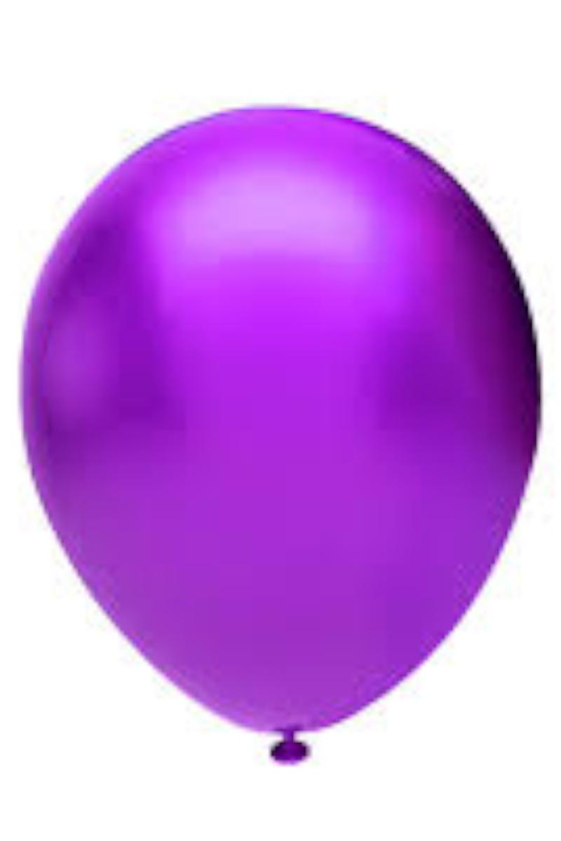 Balonevi 12'' Baskı Balonu Metalik Violet 100'lü