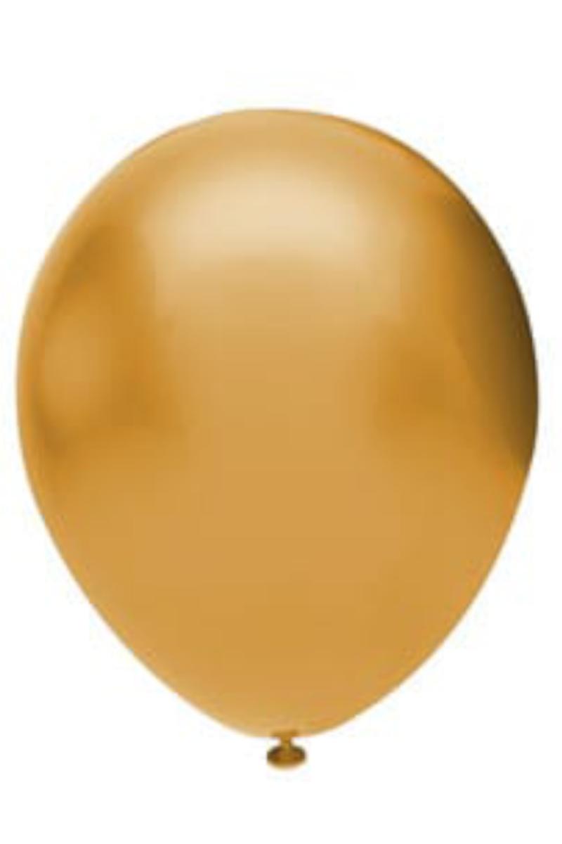 Balonevi 12'' Baskı Balonu Metalik Gold 100'lü