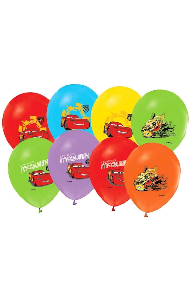 Balonevi 4+1 Cars Baskılı Renk Balon 12'li