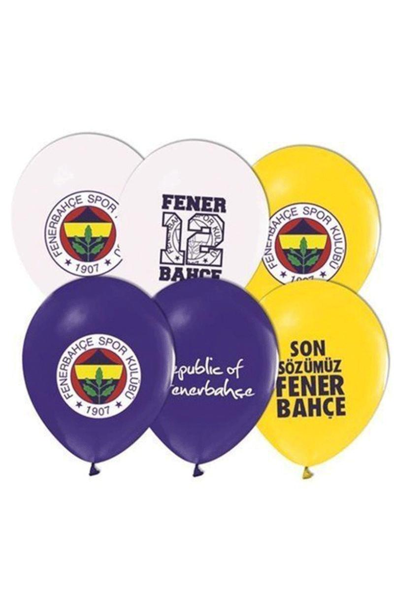 Balonevi 4+1 Fenerbahçe Baskılı Renk Balon 12'li