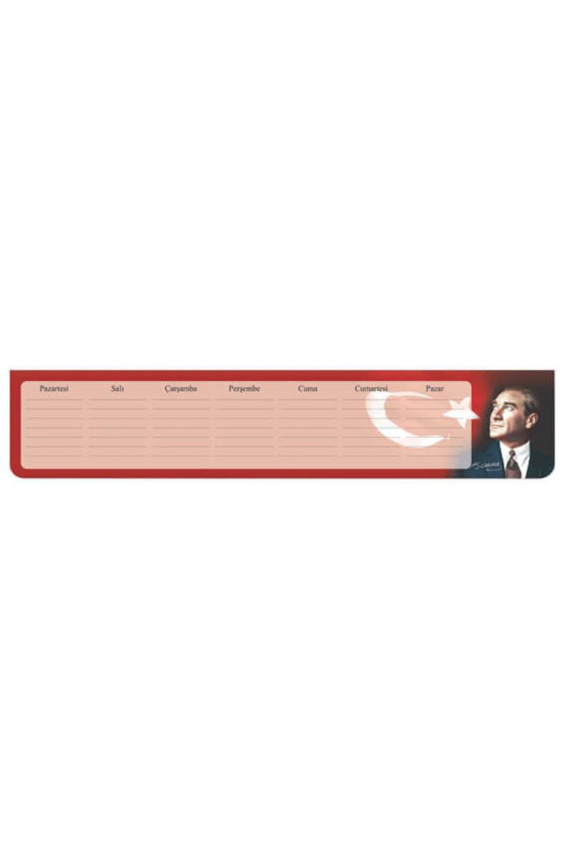 Keskin Color Planner Haftalık Blok Atatürk 7,5x40