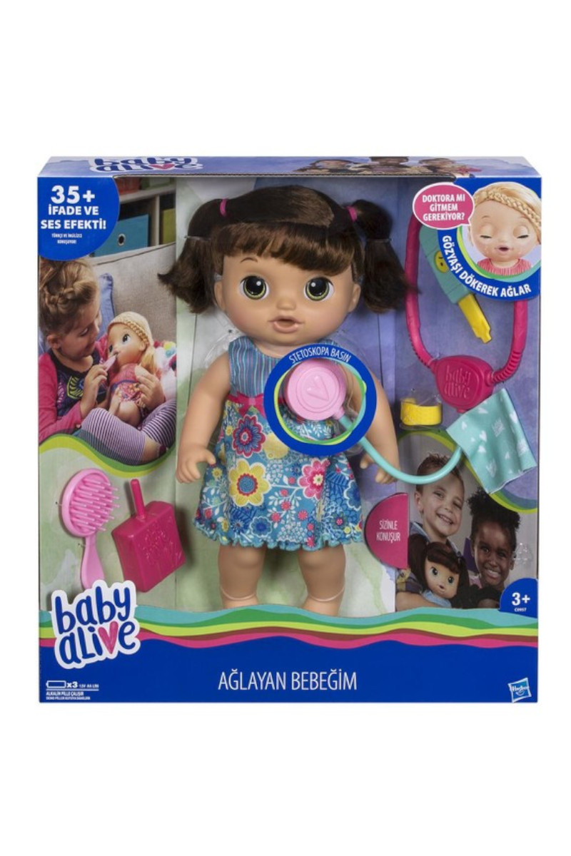 Hasbro Baby Alive Ağlayan Bebeğim Kumral