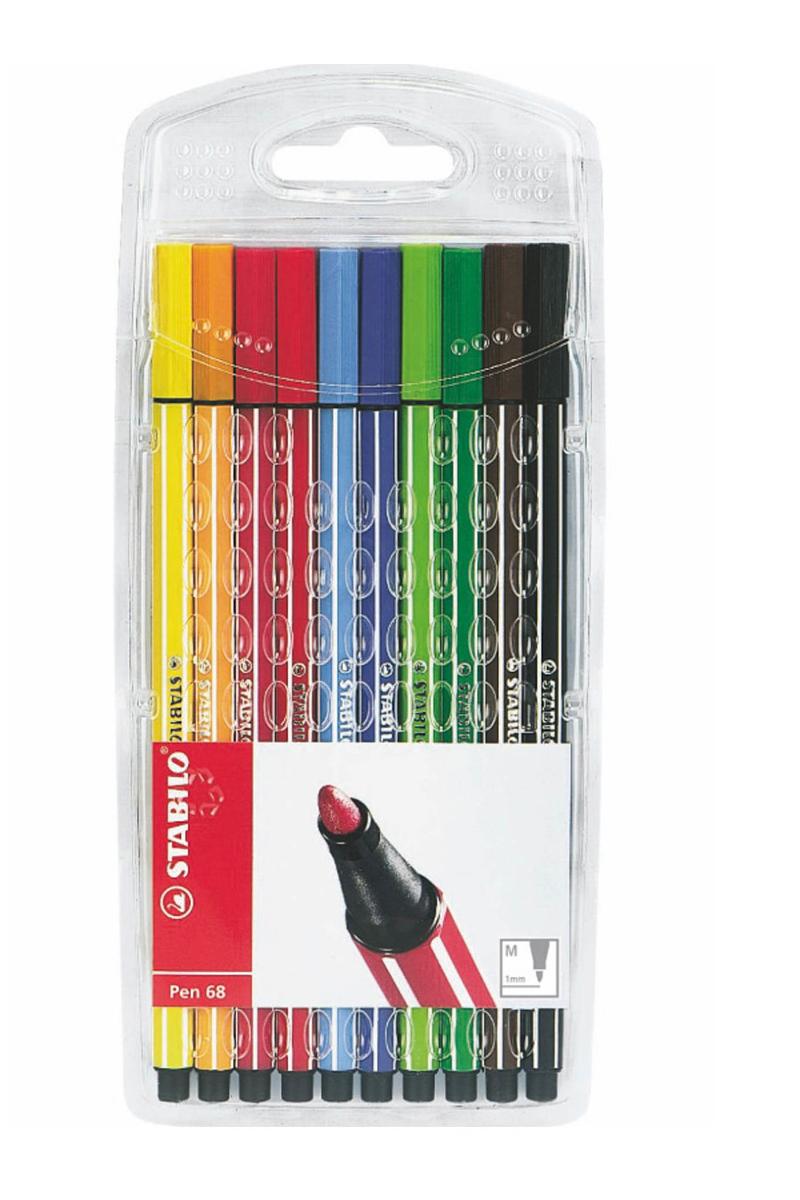 Stabilo Pen 68-10 Renk Seffaf Paket