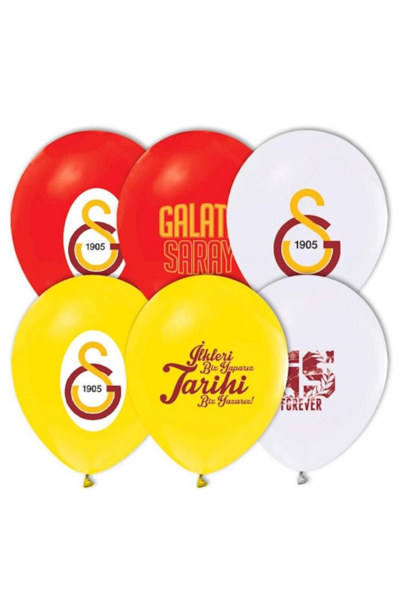 Balonevi 4+1 Galatasaray Baskılı Balon 12'li